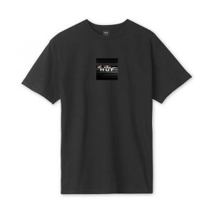 ביגוד HUF לגברים HUF Voyeur Logo - שחור