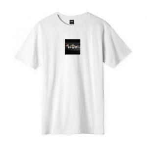 ביגוד HUF לגברים HUF Voyeur Logo - לבן