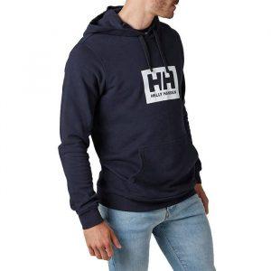 ביגוד הלי הנסן לגברים Helly Hansen Box Hoodie - כחול כהה