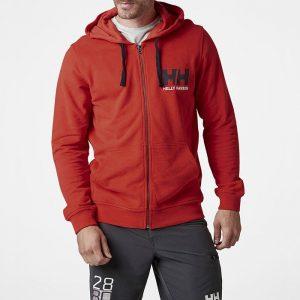 ביגוד הלי הנסן לגברים Helly Hansen Logo Full Zip - אדום