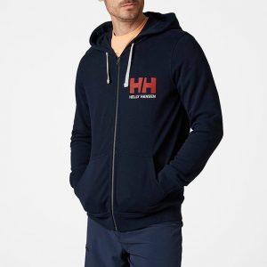 ביגוד הלי הנסן לגברים Helly Hansen Logo Full Zip - כחול כהה