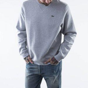סווטשירט לקוסט לגברים LACOSTE Sport Fleece - אפור בהיר