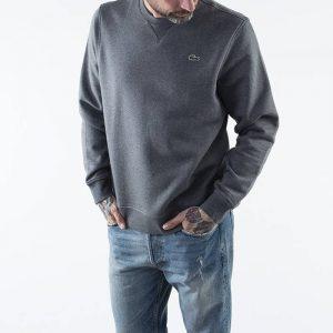 סווטשירט לקוסט לגברים LACOSTE Sport Fleece - אפור כהה