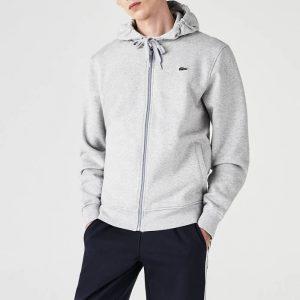 ביגוד לקוסט לגברים LACOSTE Sport Hooded - לבן
