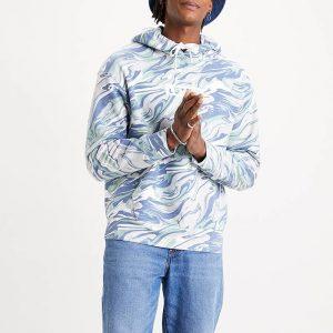 ביגוד ליוויס לגברים Levi's Graphic Relaxed Boxtab Hoodie - כחול