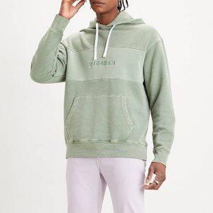 ביגוד ליוויס לגברים Levi's Relaxed Fit Novelty Hoodie - ירוק