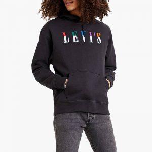 ביגוד ליוויס לגברים Levi's T2 Relaxed Graphic - שחור