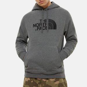 ביגוד דה נורת פיס לגברים The North Face Drew Peak Pullover - אפור
