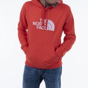 סווטשירט דה נורת פיס לגברים The North Face Drew Peak Pullover - אדום יין