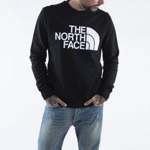 ביגוד דה נורת פיס לגברים The North Face Fine Standard Crew - שחור
