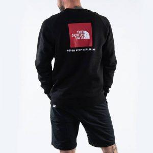ביגוד דה נורת פיס לגברים The North Face Raglan Red Box Crew - שחור