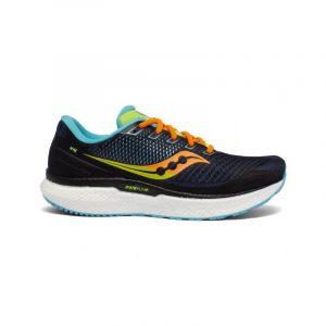 נעלי ריצה סאקוני לגברים Saucony TRIUMPH 18 - צבעוני כהה