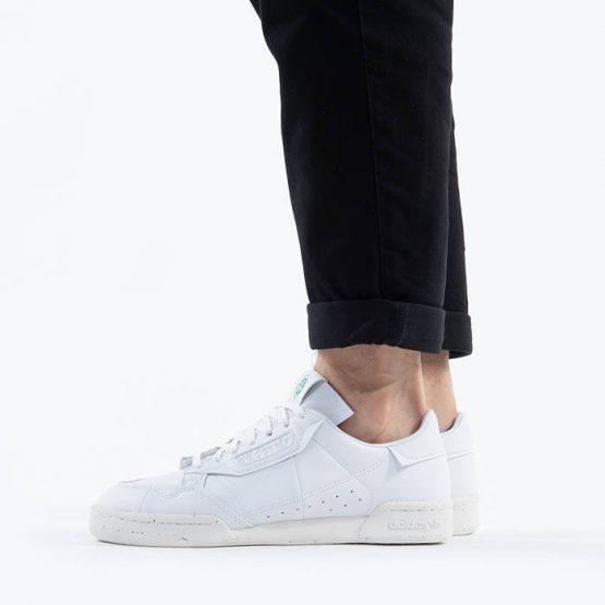 נעליים אדידס לגברים Adidas Originals Continental 80 Clean Classics - לבן