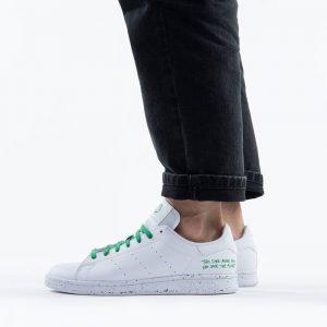 נעלי סניקרס אדידס לגברים Adidas Originals Stan Smith Clean Classics - לבן/ירוק
