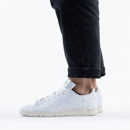 נעלי סניקרס אדידס לגברים Adidas Originals Stan Smith Clean Classics - לבן