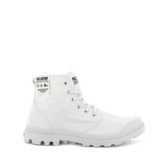 נעליים פלדיום לגברים Palladium Pampa Hi Organic Earth Collection - לבן