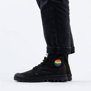 נעליים פלדיום לגברים Palladium x Smiley Pampa Pride - שחור