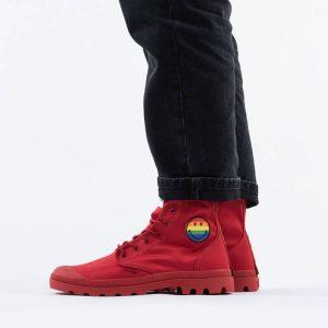 נעליים פלדיום לגברים Palladium x Smiley Pampa Pride - אדום