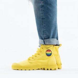 נעליים פלדיום לגברים Palladium x Smiley Pampa Pride - צהוב