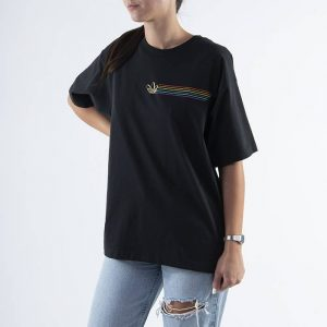 ביגוד Adidas Originals לנשים Adidas Originals Pride Linear Tee - שחור