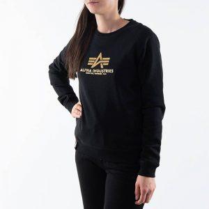 סווטשירט אלפא אינדסטריז לנשים Alpha Industries New Basic Sweater - שחור