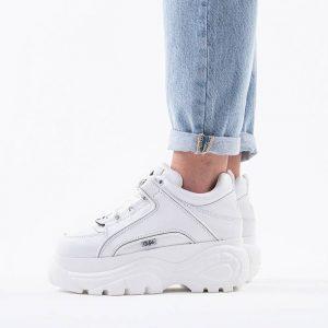 נעלי סניקרס Buffalo לנשים Buffalo London Calf - לבן
