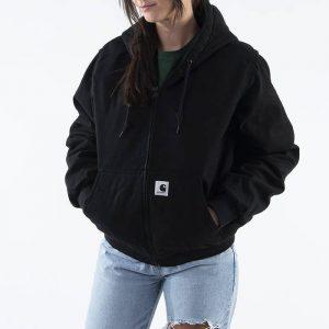 ביגוד קארהארט לנשים Carhartt WIP Active Jacket - שחור