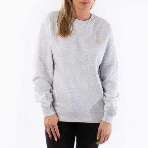 סווטשירט קארהארט לנשים Carhartt WIP Script Embroidery - אפור