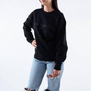 ביגוד קארהארט לנשים Carhartt WIP Sweatshirt - שחור
