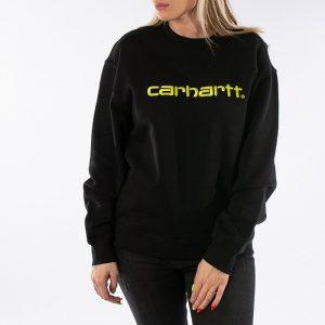 ביגוד קארהארט לנשים Carhartt WIP Sweatshirt - שחור/צהוב