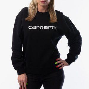 ביגוד קארהארט לנשים Carhartt WIP Sweatshirt - שחור/לבן