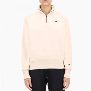 ביגוד צ'מפיון לנשים Champion Half Zip Sweatshirt - ורוד בהיר