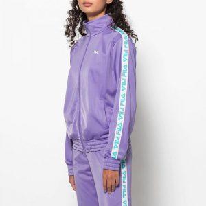 ביגוד פילה לנשים Fila Strap Track Jacket - סגול