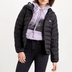 ביגוד ליוויס לנשים Levi's Pandora Packable Jacket - שחור