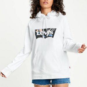 ביגוד ליוויס לנשים Levi's Sport Hoodie - לבן