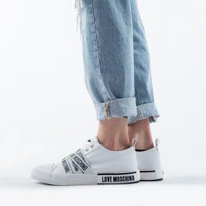 נעלי סניקרס מוסקינו לנשים MOSCHINO Nuovovul25 - לבן