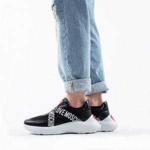 נעלי סניקרס מוסקינו לנשים MOSCHINO Running60 - שחור