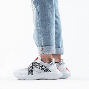 נעלי סניקרס מוסקינו לנשים MOSCHINO Running60 - לבן