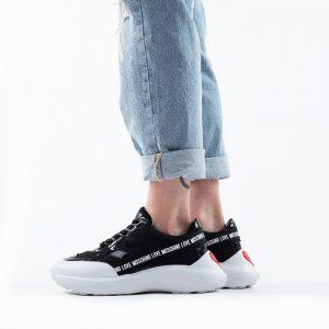 נעליים מוסקינו לנשים MOSCHINO Running60 - שחור/לבן