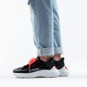 נעלי סניקרס מוסקינו לנשים MOSCHINO Running60 - שחור/אדום