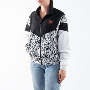 ביגוד פומה לנשים PUMA TFS Printed Track Jacket - שחור/לבן