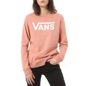 ביגוד ואנס לנשים Vans Classic V Crew - ורוד בהיר