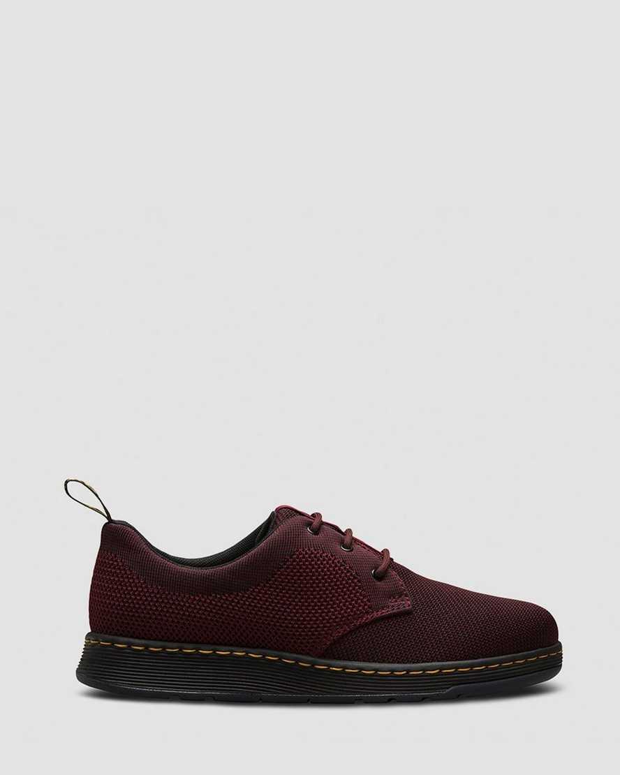 נעלי אלגנט דר מרטינס  לגברים DR Martens Cavendish Knit - בורדו