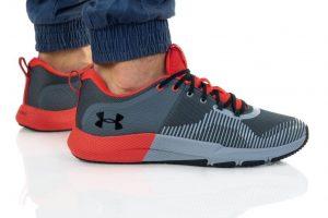 נעלי אימון אנדר ארמור לגברים Under Armour CHARGED ENGAGE - אפור/אדום