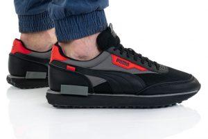 נעלי סניקרס פומה לגברים PUMA Future Rider - שחור/אדום