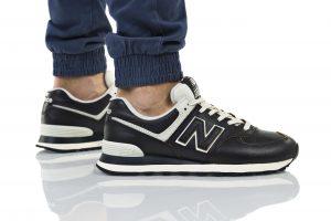 נעלי סניקרס ניו באלאנס לגברים New Balance ML574 - שחור מבריק