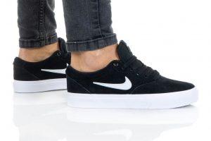 נעלי סניקרס נייק לנשים Nike SB CHARGE - שחור/לבן