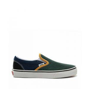 נעלי סניקרס ואנס לגברים Vans Classic Slip-On - כחול/ירוק