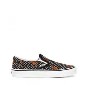 נעלי סניקרס ואנס לגברים Vans Classic Slip-On - שחור הדפס