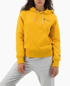 חולצת צ'מפיון לנשים Champion Hooded - צהוב בהיר